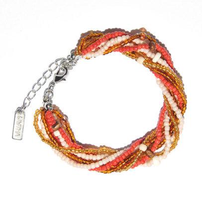 Autumn multistrand seed beads bracelet