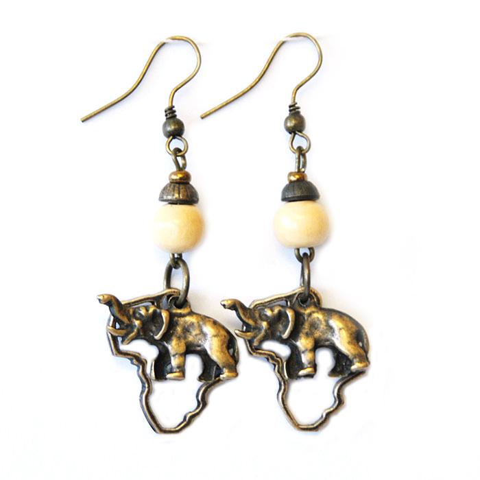 Animals in Africa earrings