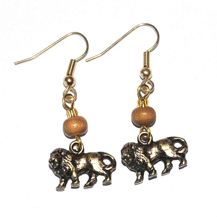 Animal & Bead Assorted earrings (Lion)