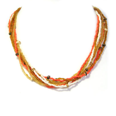 Autumn multi-strand seed beads necklace