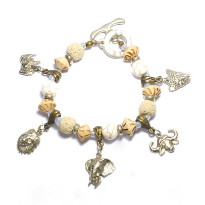 Big Five' metal charms bracelet