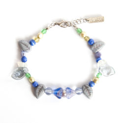 Assorted Czech and other glass and freshwater pearl bracelet