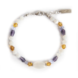 Beautiful bracelet with contrasts of the African Iris